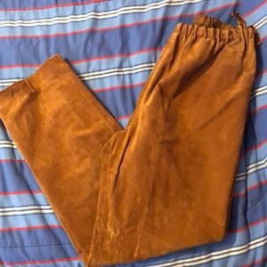 Saks REAL Suede Leather Pants